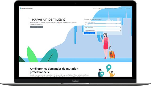 Trouver un permutant création site internet Quentin Lesdalons